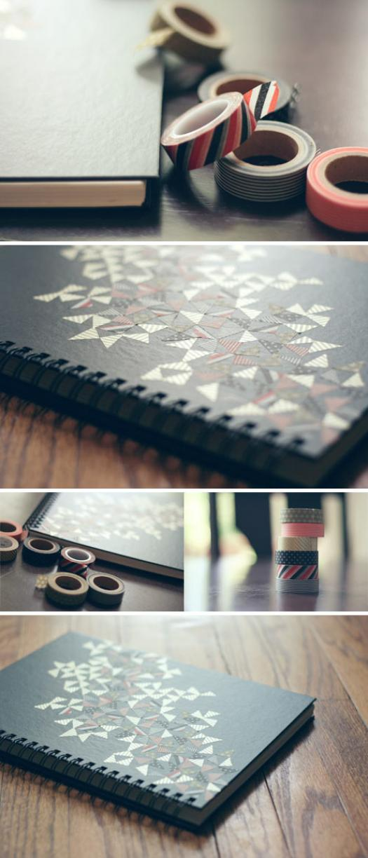 Diy Sketchbook Cover : Washi tape sketchbook hello polly